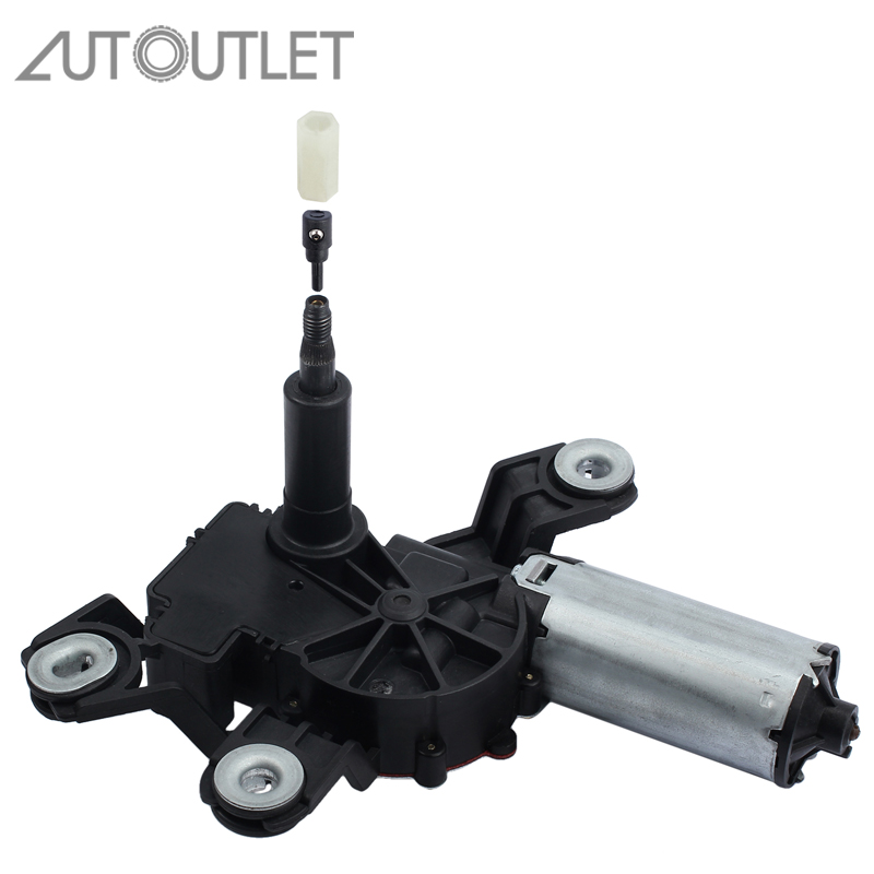 AUTOUTLET Car Rear Wiper Motor 1K6955711B 1K6955711C Rear Windscreen Wiper for VW Golf Plus V 5M