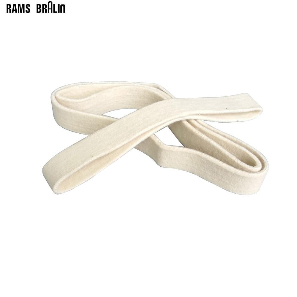 3 Pieces 40*740mm Wool Felt Polishing Belt Stainless Steel Pipe Sanding Belts Mirror Polish Wire Polisher