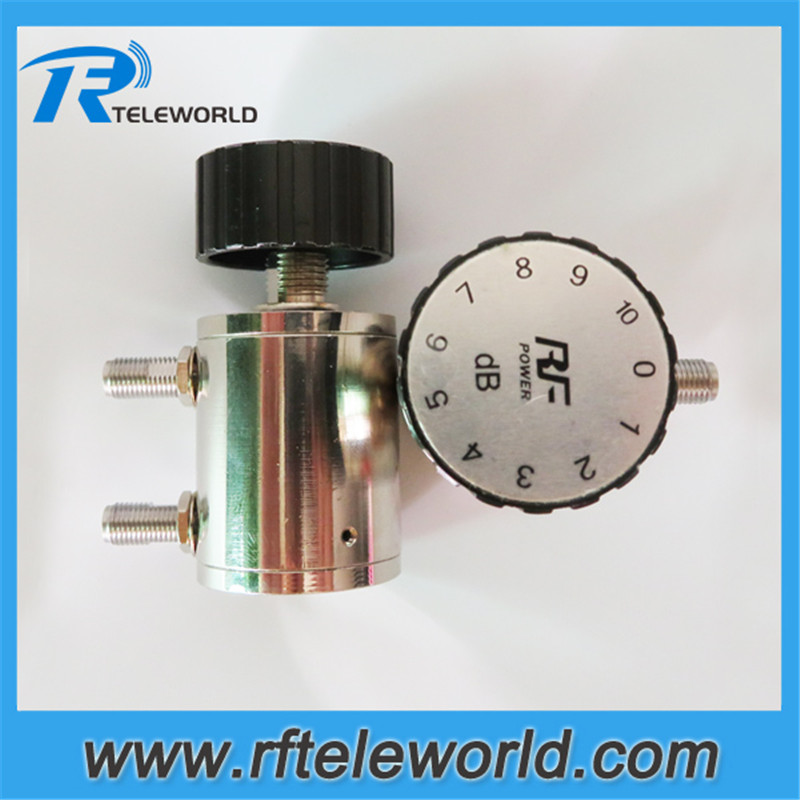 2W 0 70dB SMA knob Manually variable attenuator 10db step attenuator 6GHz