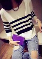 New Top Quality Women Sweaters New Fashion Brand Love Hearts Patch Striped Knitwear Pullover Ladies Sweater Shirt Hot