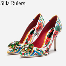 c5c257d2e13a6 Großhandel pointed toe flowers printed shoes Gallery - Billig kaufen ...