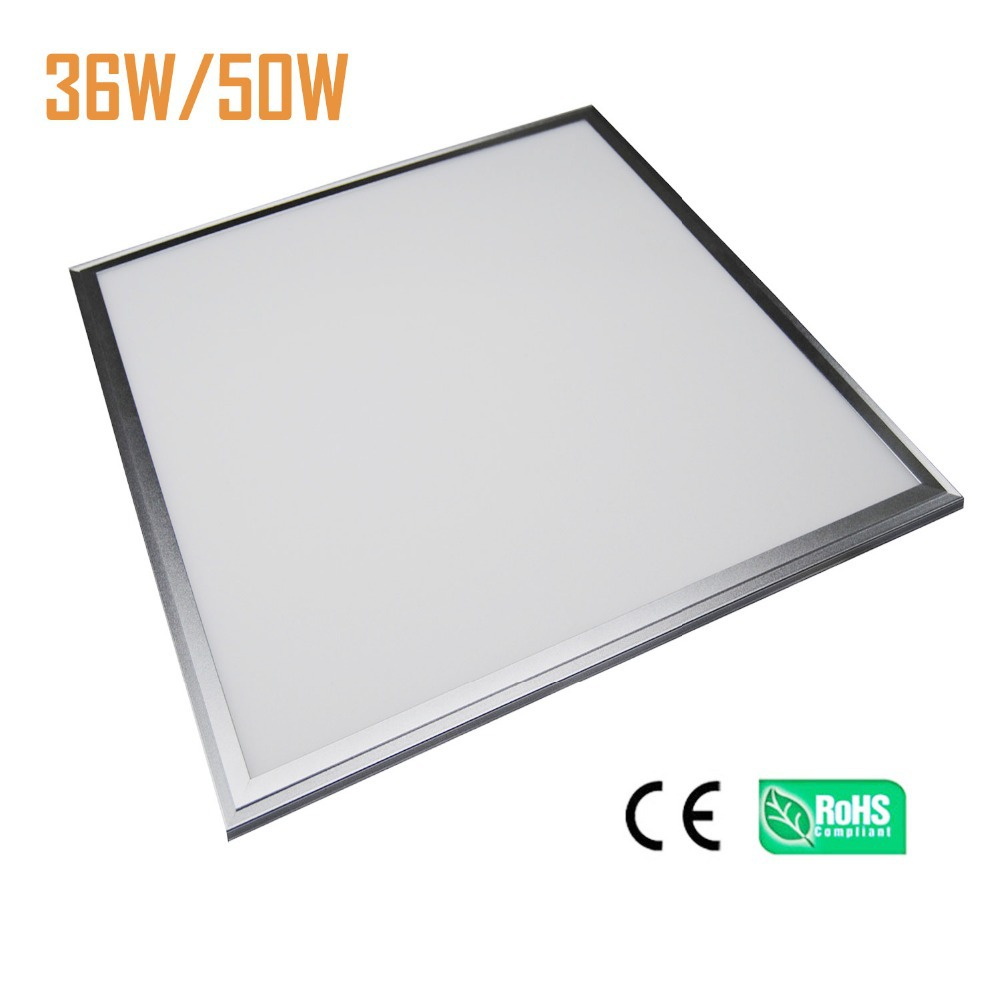 6PCS/LOT Square LED Panel light 600x600mm ultra slim 9mm SMD4014 50W ceiling light UL LED Driver 85-265V Suspended or Recessed kinfire ultra slim 1848lm 25w 125 smd 3528 led cool white light ceiling lamp w driver 85 265v