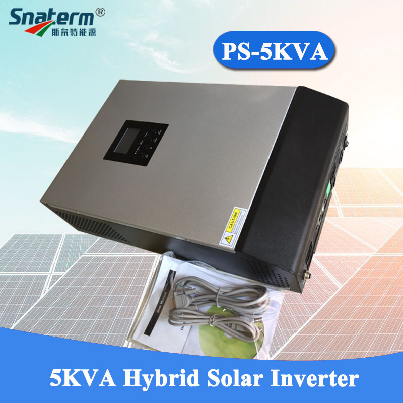5KVA Solar Hybrid Inverter Pure Sine Wave 220VAC Output Built-in PWM 48V50A Solar Charge Controller with 60A AC Charger