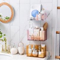 Универсальные стеллажи на присоске Полка для ванной комнаты Настенные принадлежности для ванной комнаты всасывающая пластиковая стойка д...