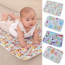New Arrivals Cartoon Cotton Baby Waterproof Mat Large Baby Mat Cover Infant Urine Pad Mattress Sheet