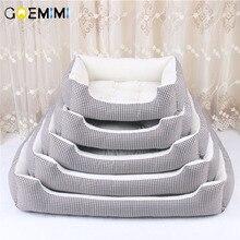 2019 кровати для больших собак берберский флисовый теплый Питомник Плюшевые, кровати S-XXL клетчатый коврик Лежанка для собаки одеяло кровать для собаки