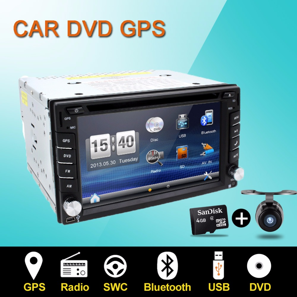 car dvd player gps radio bluetooth 2 din universal for x. Black Bedroom Furniture Sets. Home Design Ideas