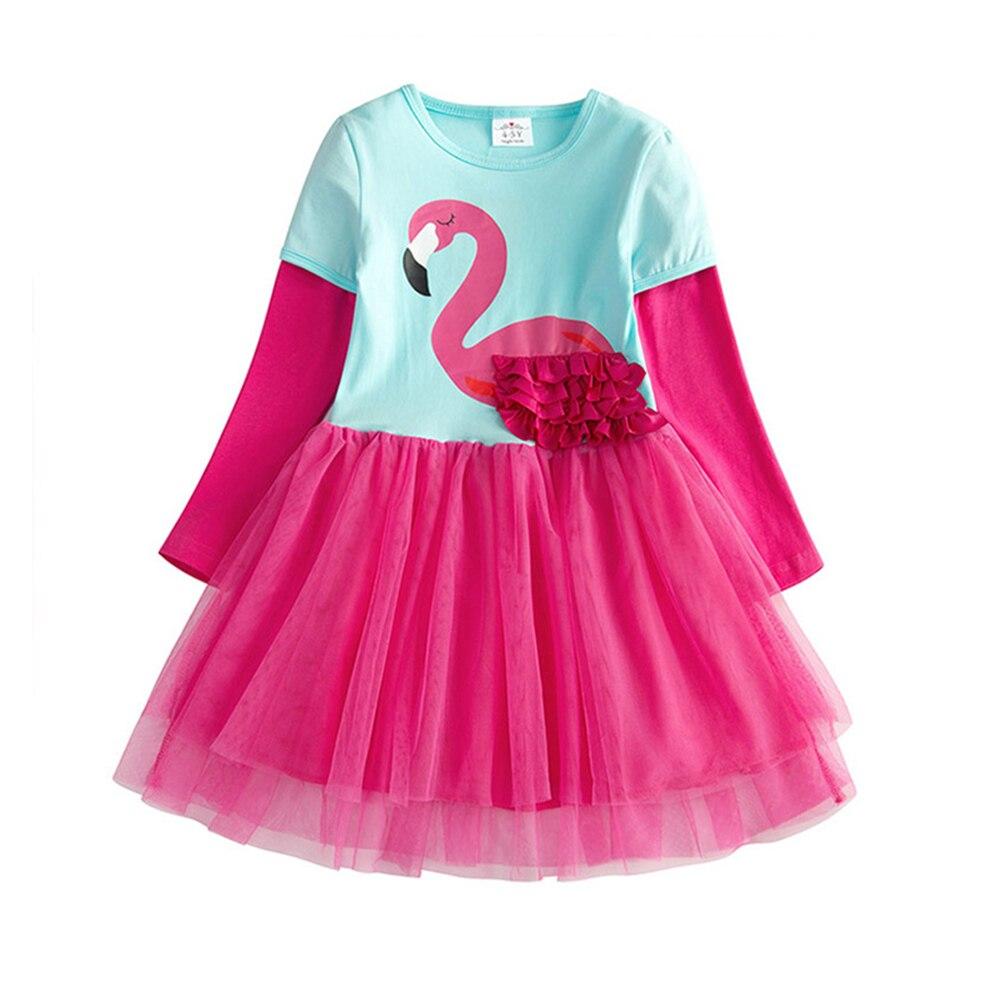 HTB12X4sQAvoK1RjSZFwq6AiCFXaW VIKITA Girls Dress Long Sleeve Kids Flower Dresses Children Unicorn Vestidos 2019 Girls Dresses Autumn Kids Dress For Girl