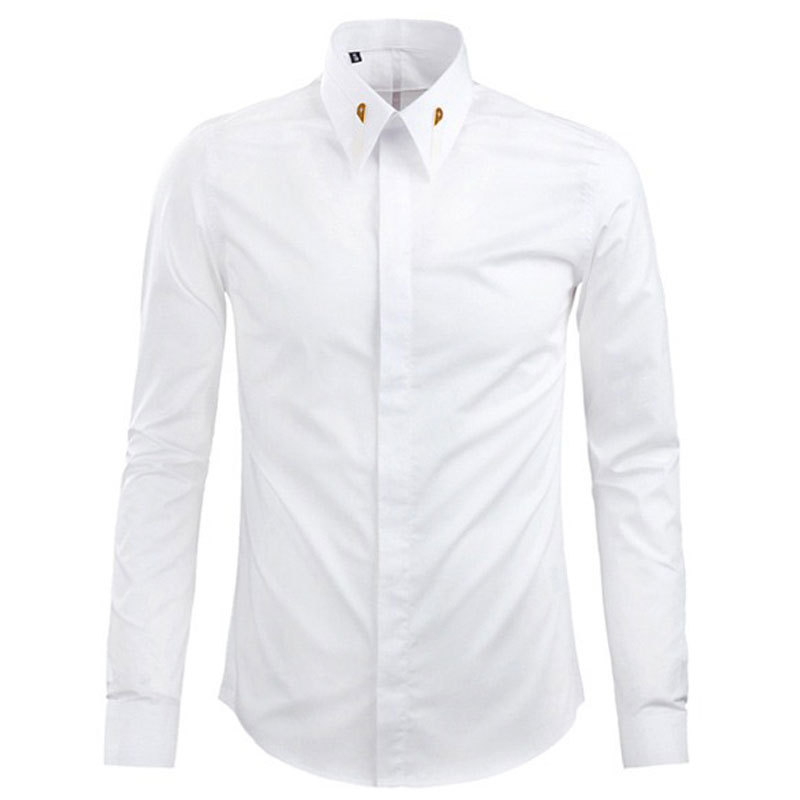 White dress shirt mens custom shirt Buy white dress shirt