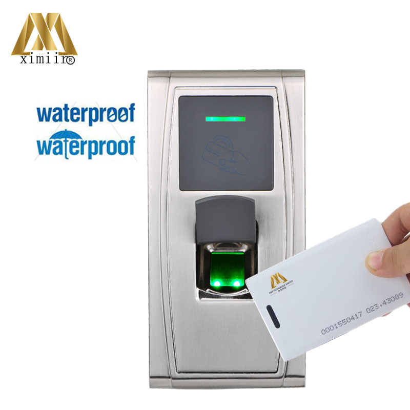 IP65 Waterproof Fingerprint Time Attandance ZK MA300 TCP/IP USB Biomtric Fingerprint Access Control With 125KHZ RFID Card Reader