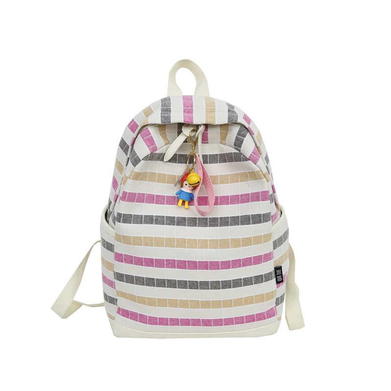 Menghuo новый японский Стиль девочек Школьный рюкзак дорожные сумки Для женщин 2018 Bookbag плед Mochila детей школьные сумки для подростков