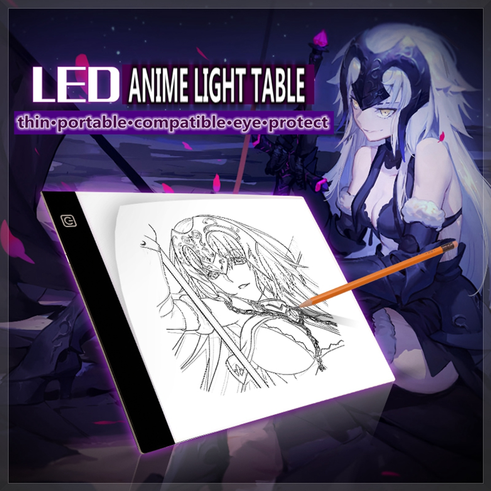Tireless Anime Jk A4 Led Light Graphic Artist Tool Art Stencil Copy Painting Drawing Board Eye Protect Light Box Tracing Table Pad Gift Novelty & Special Use Costumes & Accessories