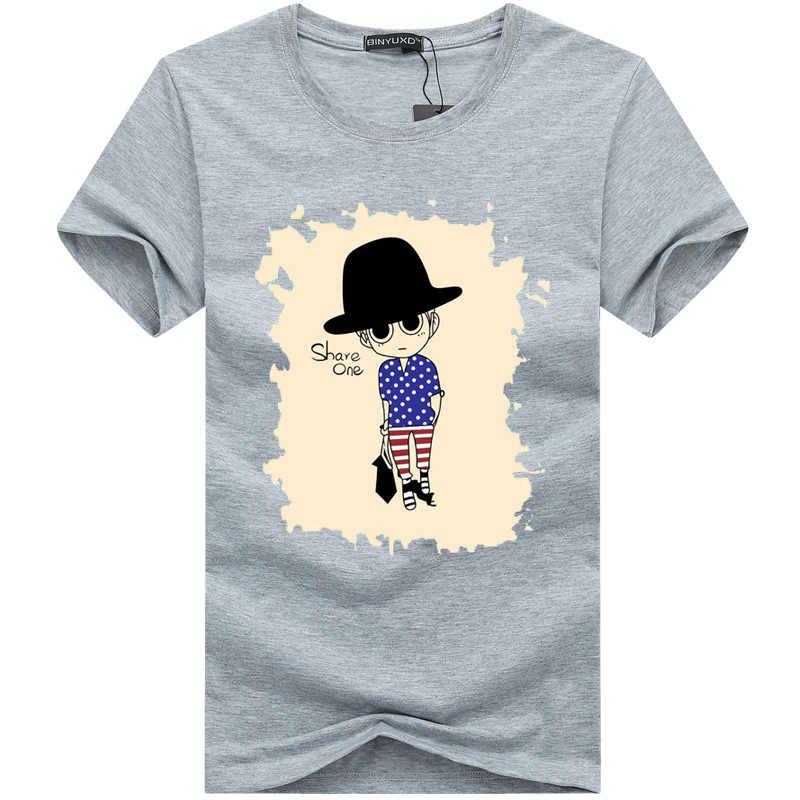 Acacia Person Лидер продаж 2018 Летняя мужская футболка с мультяшным дизайном хлопковая