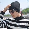 Vogue Sombrero Unisex Sombrero Cabeza Set de Corea Marea Hombres Mujeres Danza de la Calle Tapa turbante Sombrero de Punto Skullies Gorros Chapeau Hiver Homme
