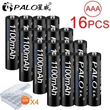 16pcs/lot AAA 1100mAh 1.2 V Rechargeable Battery AAA 1100mAh PALO NI-MH 1.2V Rechargeable Battery Free Shipping