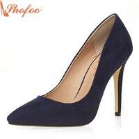 Shofoo Navy Blue Classic Fashion Cheap Girls Shoes Women Shoes Most Comfortable Ladies Dress Pumps The