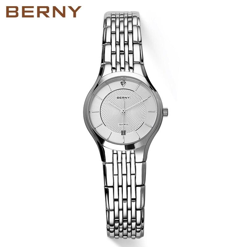 Berny Paar montre reine roi couronne Fuax cuir Quartz analogique montres chronographe femmes hommes 2752 ML-in Geliefdes Horloges van Horloges op  Groep 3