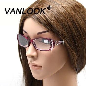 ריינסטון קריאת משקפיים נשים Gafas דה Lectura יוקרה אופנה מחזה + 50 + 75 100 125 150 175 200 225 250 275 375 + 450 + 500