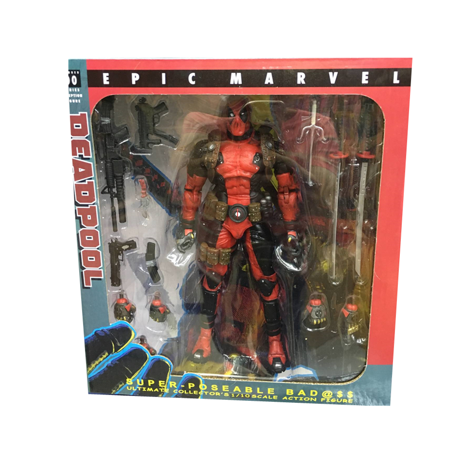 EPIC Marvel Deadpool Super Poseable Ultimate Collectible Action Figure  (6)
