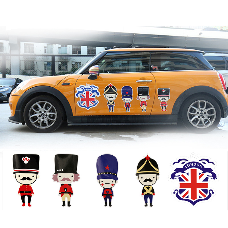 British Cool Soldiers Car Side Door Skirt Decal Sticker Decoration For Mini Cooper One JCW S R60 R55 R56 F55 F56 F60 Car Styling aliauto car styling side door sticker and decals accessories for mini cooper countryman r50 r52 r53 r58 r56
