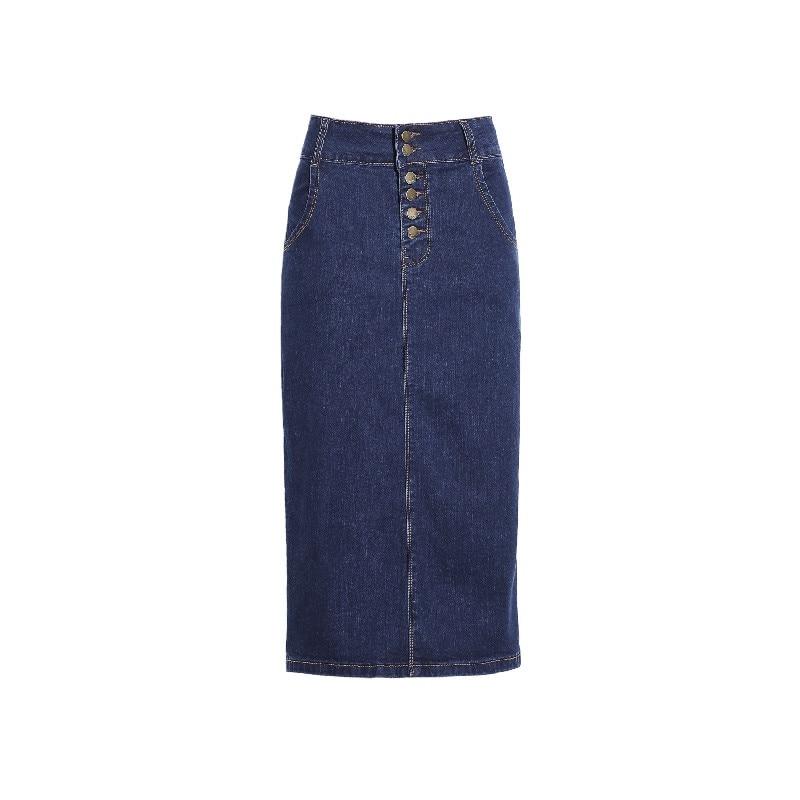 pencil skirt 2017 summer casual button slim