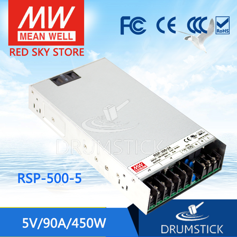 Advantages MEAN WELL original RSP-500-5 5V 90A meanwell RSP-500 5V 450W Single Output with PFC Function Power Supply пуско зарядное устройство carku e power 3 черно белый