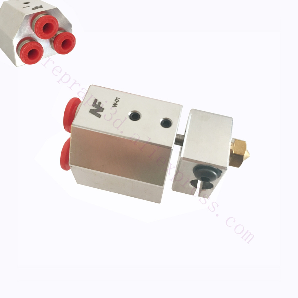 3D Printer All Metal Water-cooled Hotend Bowden-fed Liquid Cooling For Titan Aqua Water Cooling, For 3D Printing Peek PA