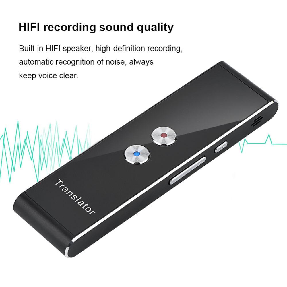 Portable Mini Multi-Language Smart Translator 40 Languages APP Translator Bluetooth Wireless Two-Way Real Time Instant Voice1