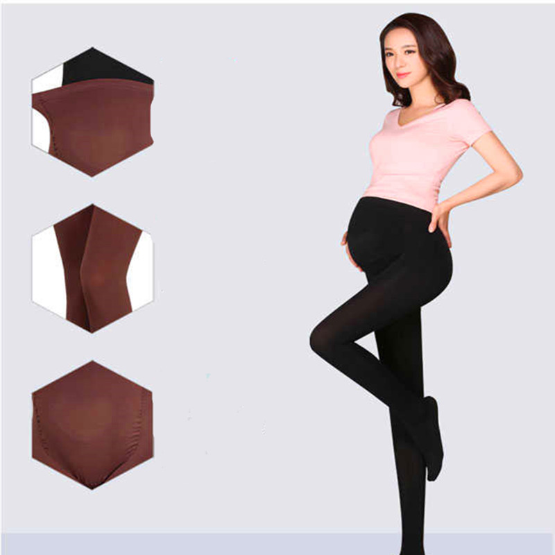 HTB12X62KkSWBuNjSszdq6zeSpXaP - 320D Women Pregnant Socks Maternity Hosiery Solid Stockings Tights Pantyhose Spring and autumn pregnant women stockings