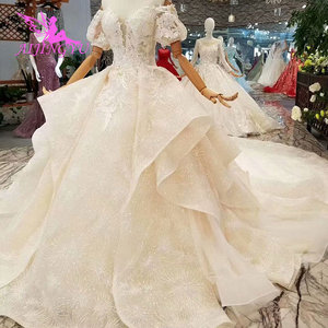 Image 4 - AIJINGYU Wedding Luxury Gowns Netherlands Sexy Under 500 Gown Buttons Long Sleeve Wedding Dress Lace