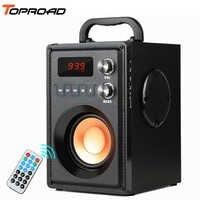 Toproad 20 w grande potência alto-falante bluetooth estéreo portátil baixo alto falantes de festa sem fio com controle remoto rádio fm mic tf aux usb