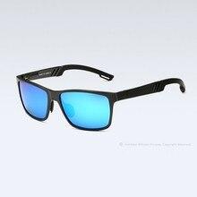 Brand Men Polarized Anti-UA400 Reflective Sunglasses Driving Rectangle Frame Goggle Eyewear Glasses