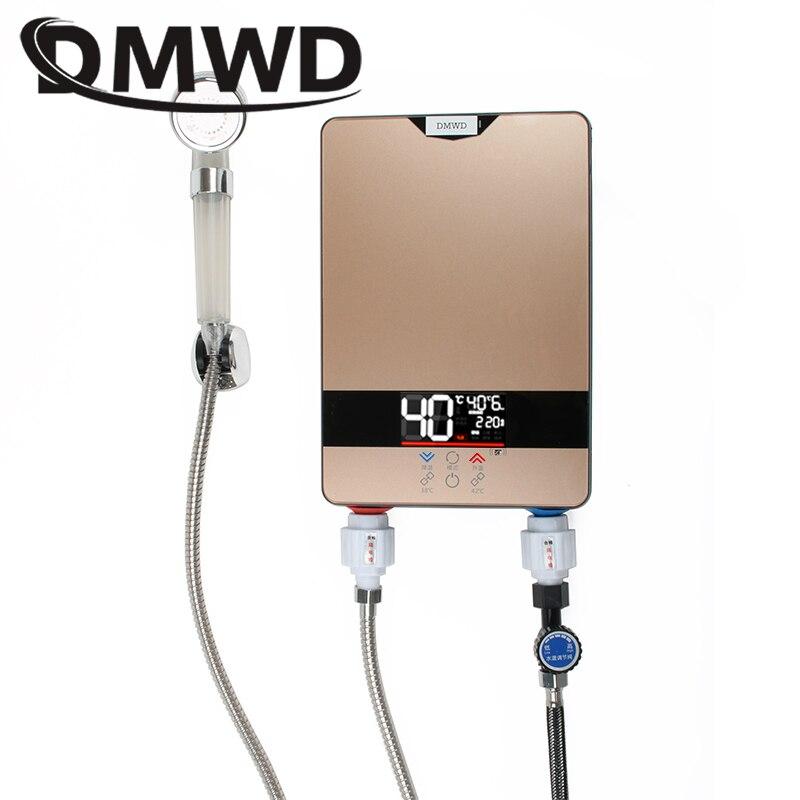 DMWD instantané chauffe-eau électrique sans réservoir robinet cuisine chauffage rapide robinet douche arrosoirs salle de bains LED affichage