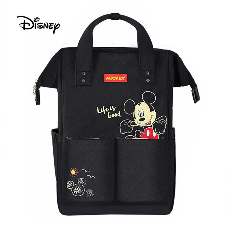 Disney Baby Diaper Bags USB Heating Mummy Maternity Nappy Diaper Stroller Bag Multifunction Insulation Large Capacity Backpack