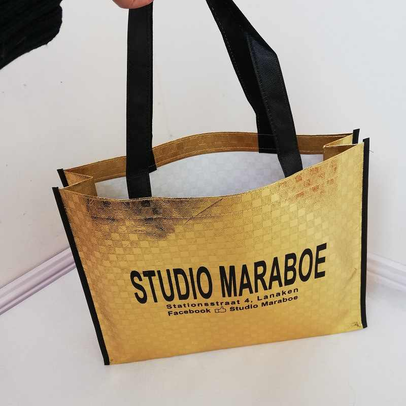 cae4c120d9 ... Wholesale 500pcs lot Custom Laminated Reusable Non-Woven Shopping Tote  Bags Printed With Your ...