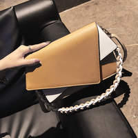 ETAILL Panelled Crossbody Bags For Women 2018 New Ladies Fashion Girls Chain PU Leather Patchwork Flap Shoulder Messenger Bag