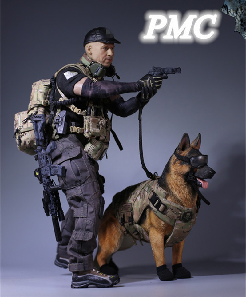 Full set figure doll 1 6 MC Private Military Contractor Combat Set Weapon MCCTOYS MCC 004 PMC K9 figure doll in Action Toy Figures from Toys Hobbies
