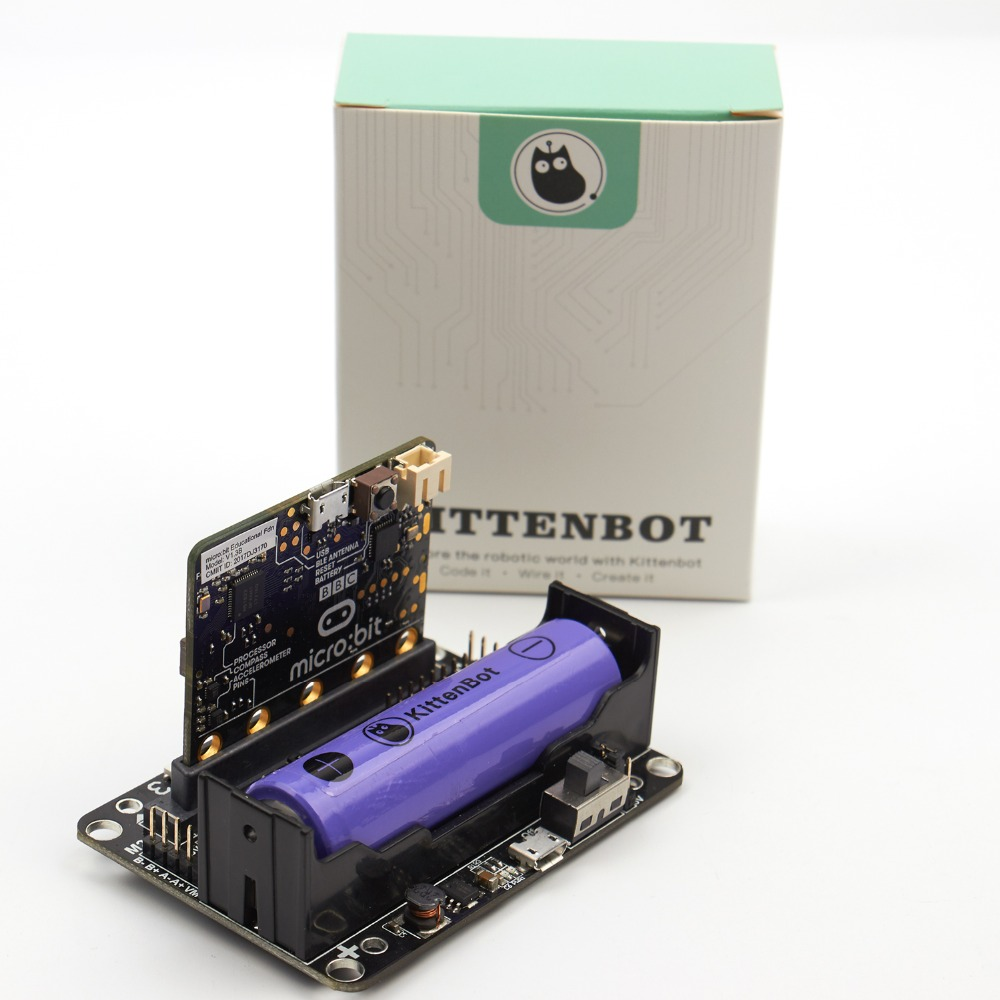Reliable Expansion Board Robot:bit For Bbc Micro:bit Go Starter Pack Kit And Shell Kittenbot 18650 Lipo Battery Beneficial To Essential Medulla Toys & Hobbies