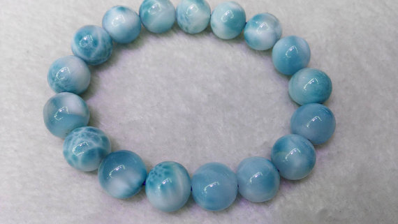 High Quality Larimar Bracelet Natural Mens Womens Gift Genuine Jewelry Blue