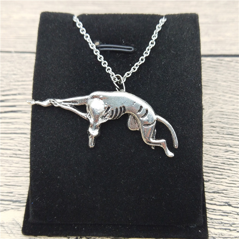 New Italian Greyhound Necklace Trendy Style Spanish Grey Hound Whippet Pendant Necklace Women Fashion Pet Dog Jewellery