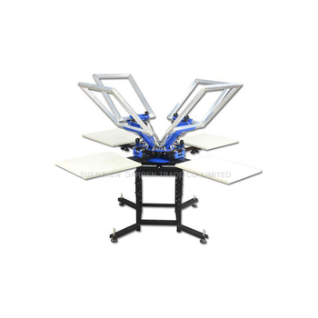 1Set 4 Color 4 Station T-shirt Screen Printing Machine Comes with Base Good Quality недорого