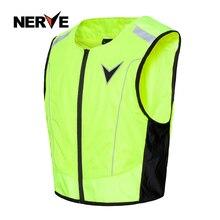 Нерв мотоцикл ночной езды высокая видимость жилет куртка флуоресцентный светоотражающий без рукавов Gar мужчин t жилет для мужчин и женщин