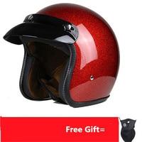 Adult Harley Helmets For Motorcycle Retro Half Cruise Helmet Prince Motorcycle Helmet Vintage Motorcycle Moto