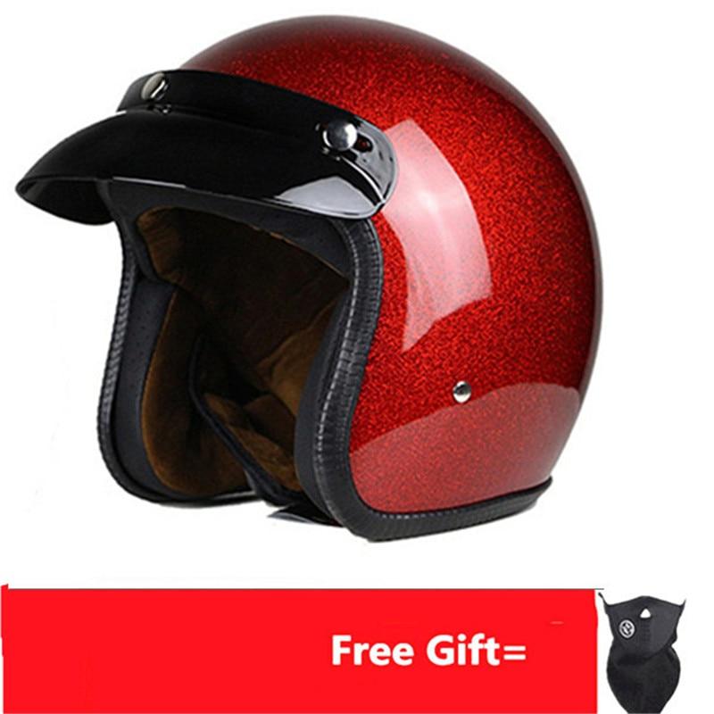 Adult  Harley Helmets For Motorcycle Retro Half Cruise Helmet Prince Vintage Moto