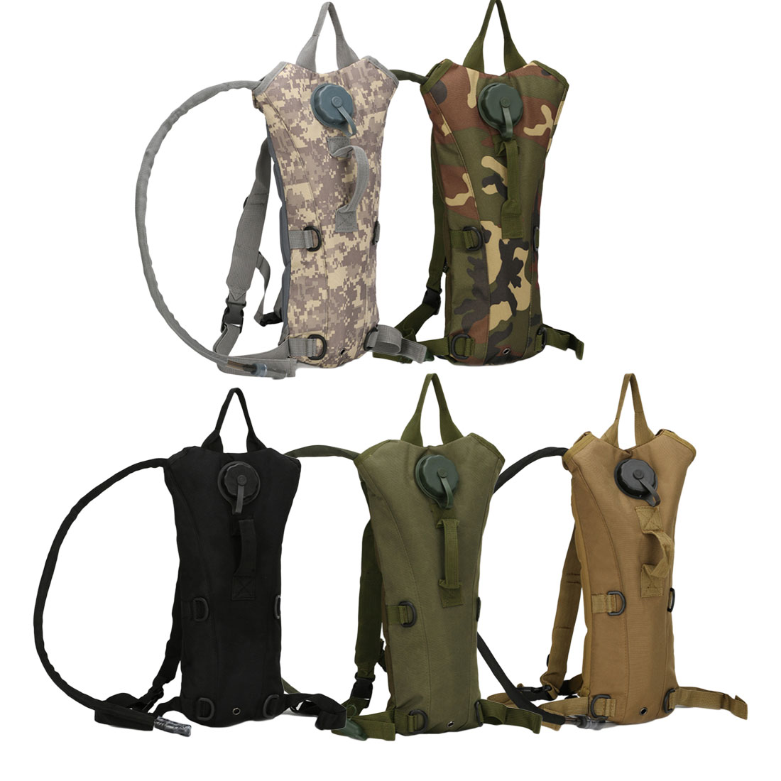 3L Outdoor Camping Hiking Nylon Camelback Water Bag Military Tactical Hydration Backpack Camel Water Bladder Storage For Cycling