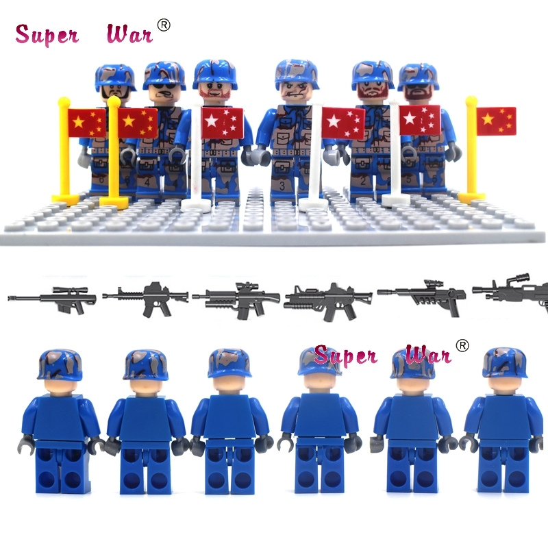 Blocks 6pcs Super Heroes Gbl Csf Team Leader Military With Baseplate Building Blocks Action Model Bricks Toy For Children Complete In Specifications