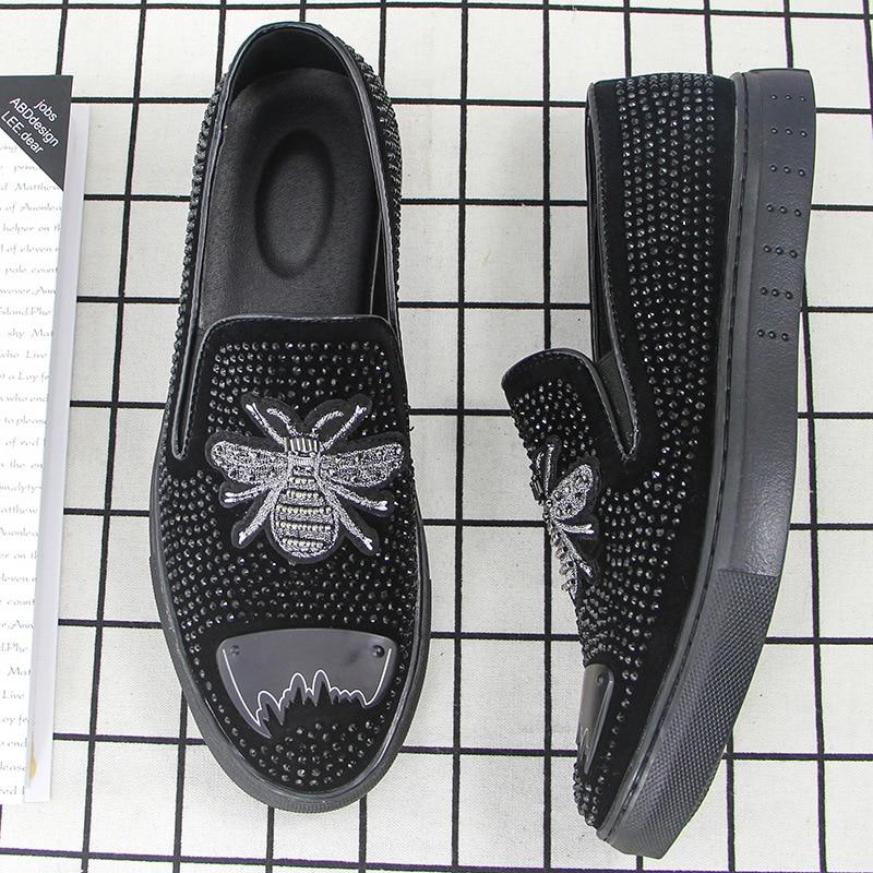 Primavera Moda De Marca Calçado Black Sapatos Lona Designer Ms8116161 Homens Social Escritório XwI1q45