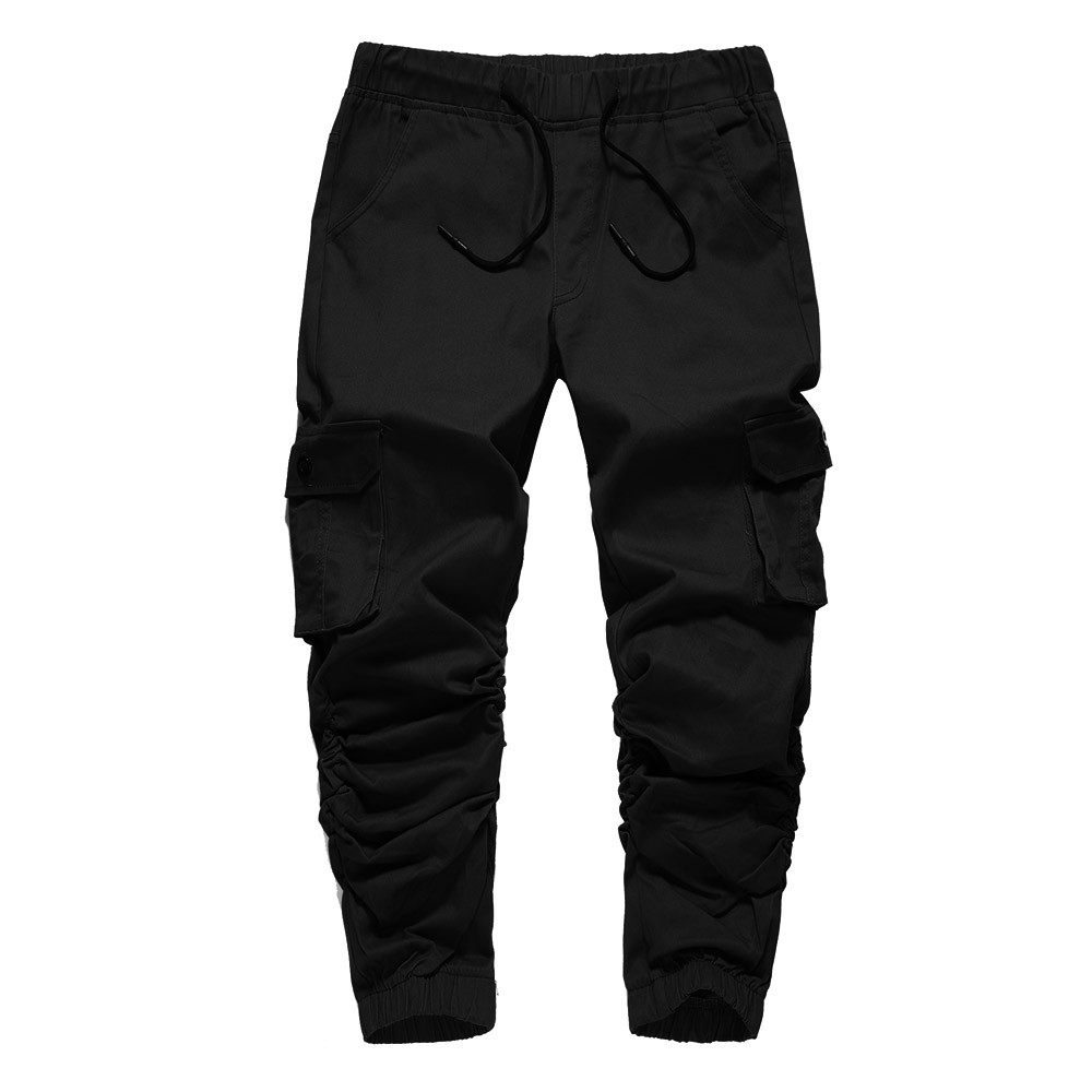 pants men Men's Autumn Winner Mid Cargo Sports Pure color  Pants Trousers men pants a0328