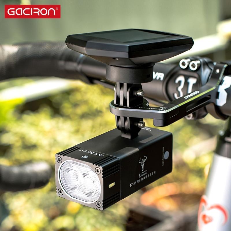 Gaciron Intelligent V7S 500 800Lumen Mountain Bike Light Go Pro Mount Rechargeable IPX6 Bicycle Light For