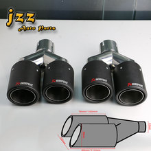 1 SET AKRAPOVIC EXHAUST TIP CARBON FIBER MUFFLER FOR CAR STAINLESS STELL PIPE CAR MUFFLER CAR PIPE AUTOMOBILE SILENCER